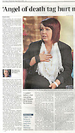 Nurse Rebecca Leighton / The Times - 21st September 2011.