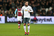 Juan Mata of Manchester United looking on .Premier league match, West Ham Utd v Manchester Utd at the London Stadium, Queen Elizabeth Olympic Park in London on Monday 2nd January 2017.<br /> pic by John Patrick Fletcher, Andrew Orchard sports photography.