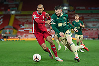 Football - 2020 / 2021 Premier League - Liverpool vs Sheffield United - Anfield<br /> <br /> Liverpool's Fabinho vies for possession with Sheffield United's Oliver Burke<br /> <br /> COLORSPORT/TERRY DONNELLY