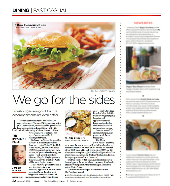 The Dallas Morning News -Guide, 22, January 11, 2013.