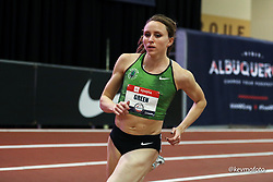 2020 USATF Indoor Championship<br /> Albuquerque, NM 2020-02-14<br /> photo credit: © 2020 Kevin Morris<br /> womens 800m, Nike OTC,