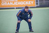AMSTELVEEN  - bondscoach Max Caldas (Ned)   tijdens de  training Nederlands hockeyteam mannen voor de Pro League wedstrijden tegen Groot Brittannie   COPYRIGHT KOEN SUYK