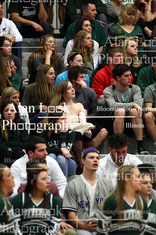 20 February 2016:   during an NCAA men's division 3 CCIW basketball game between the Elmhurst Bluejays and the Illinois Wesleyan Titans in Shirk Center, Bloomington IL