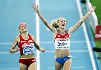 Friidrett, 30. juli  2010 ,<br /> EM Barcelona<br /> <br /> European Athletics Championships<br /> Barcelona<br /> <br /> <br /> Yuliya Zarudneva , RUS winner 3000 m steeplechase<br /> Marta Dominguez , ESP<br /> <br /> Foto: Anders Hoven , Digitalsport