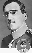 Alexander I (1888-1934) King of Serbs, Croats and Slovenes (1921-1929), King of Yugoslavia (1929-1934). Assassinated at Marseilles on state visit to France, 9 October 1934. Inset is Peter II (1923-1970), his son and King of Yugoslavia (1934-1945).