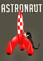 It isn't difficult at all to imagine cats being amazing astronauts. After all, you are talking about animals that are well known for their insatiable curiosity. That sounds like a pretty good quality to have for anyone who is planning to explore the far reaches of outer space. This piece combines a beautiful cat with a vintage, classic science fiction-style rocket ship. If the cat is planning to travel the galaxy, it better hurry up, and get inside that rocket! This is a fine art piece that is absolutely perfect for anyone who likes a little whimsy in their art. .<br /> <br /> BUY THIS PRINT AT<br /> <br /> FINE ART AMERICA<br /> ENGLISH<br /> https://janke.pixels.com/featured/astronaut-jan-keteleer.html<br /> <br /> <br /> WADM / OH MY PRINTS<br /> DUTCH / FRENCH / GERMAN<br /> https://www.werkaandemuur.nl/nl/shopwerk/Katten-Astronaut/436582/134