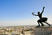 Torch Bearer Statue at the independence memorial, Citadella, Gellert Hill, Budapest, Hungary