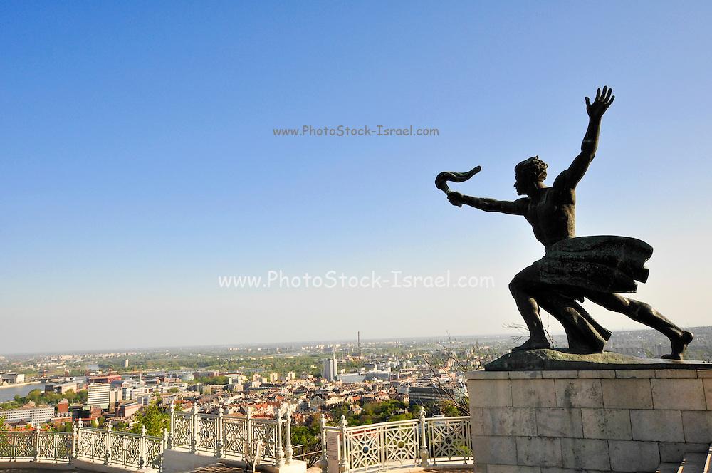 Torch Bearer Statue at the independence memorial, Citadella, Gellert Hill, Budapest, Hungary