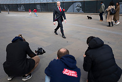 © Licensed to London News Pictures. 15/04/2021. London, UK. London Mayoral Candidate Brian Rose walks in front of the Cutty Sark while canvassing in Greenwich, South East London. The London Mayoral Election is expected to take place on the 6th of May after it was postponed last year due to the coronavirus pandemic . Photo credit: George Cracknell Wright/LNP