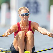 Emma Twigg , New Zealand elite Womens Single Scull<br /> <br /> Racing at the Henley Royal Regatta on The Thames river, Henley on Thames, England. Friday 5 July 2019. © Copyright photo Steve McArthur / www.photosport.nz