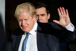 © Licensed to London News Pictures. 04/12/2016. London, UK. Foreign Secretary BORIS JOHNSON leaves BBC Broadcasting House in London after appearing on The Andrew Marr show on BBC One on Sunday, 4 December 2016. Photo credit: Tolga Akmen/LNP