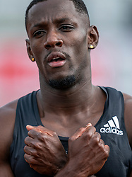 Taymir Burnet win the 200m section during the Dutch Athletics Championships (NK) on the athletics track Maarschalkerweerd on 30 August 2020 in Utrecht.