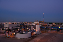 Stock photo of a chemical plant at night