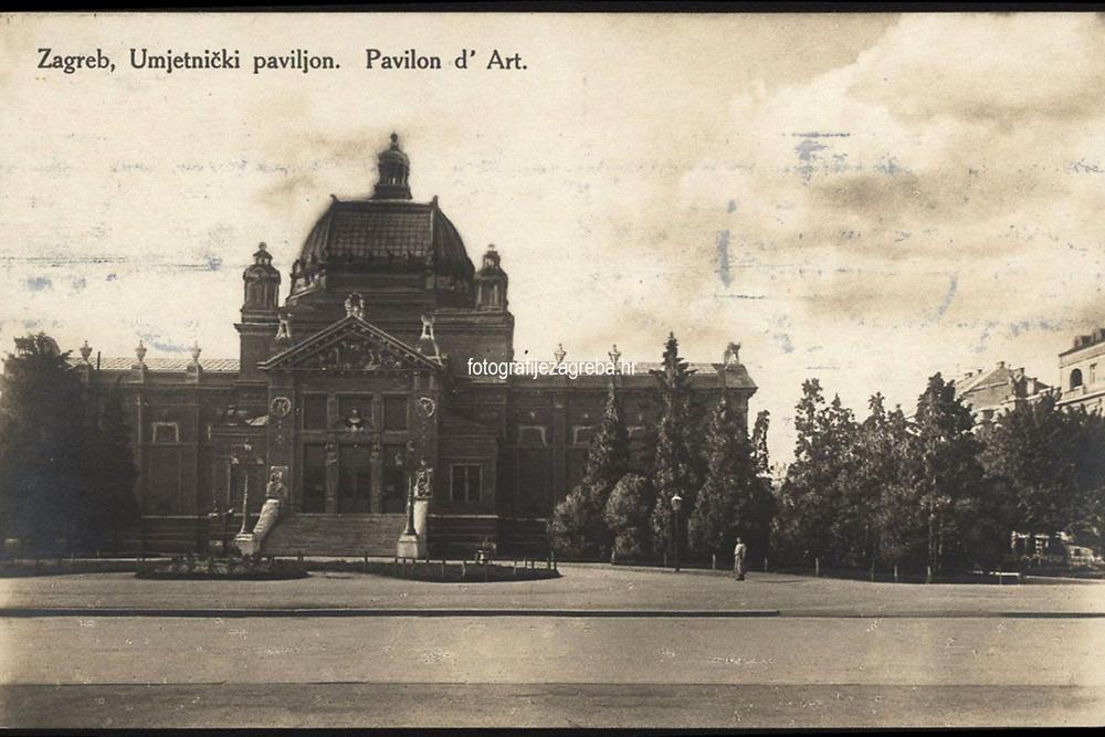 Zagreb, Umjetnički paviljon.  <br /> <br /> ImpresumZagreb : Naklada S. Marković, [oko 1925].<br /> Materijalni opis1 razglednica : tisak ; 13,7 x 8,7 cm.<br /> NakladnikNaklada S. Marković<br /> Vrstavizualna građa • razglednice<br /> ZbirkaGrafička zbirka NSK • Zbirka razglednica<br /> Formatimage/jpeg<br /> PredmetZagreb –– Trg kralja Tomislava<br /> SignaturaRZG-TOM-73<br /> Obuhvat(vremenski)20. stoljeće<br /> NapomenaRazglednica putovala 1925.<br /> PravaJavno dobro<br /> Identifikatori001000959<br /> NBN.HRNBN: urn:nbn:hr:238:058776 <br /> <br /> Izvor: Digitalne zbirke Nacionalne i sveučilišne knjižnice u Zagrebu