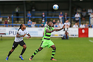 Forest Green Rovers Dale Bennett (6) heads clear during the Vanarama National League match between Dover Athletic and Forest Green Rovers at Crabble Athletic Ground, Dover, United Kingdom on 10 September 2016. Photo by Shane Healey.