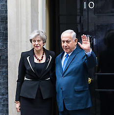 2017-11-02 Israeli PM Nethanyahu visits British PM Theresa May at Downing Street
