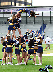 29.07.2010, Brita Arena, Wiesbaden, GER, Football EM 2010, Team Sweden vs Team Great Britain, im Bild Stunt der Cheerleader,  EXPA Pictures © 2010, PhotoCredit: EXPA/ T. Haumer / SPORTIDA PHOTO AGENCY