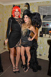 Left to right, KIM JOHNSON and JULIET ANGUS at the Bumpkin Halloween Dinner hosted by Marissa Hermer held at Bumpkin, 119 Sydney Street, London on 23rd October 2014.