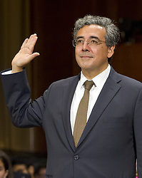 May 10, 2017 - Washington, District of Columbia, United States of America - Noel J. Francisco is sworn-in to testify before the United States Senate Committee on the Judiciary on his nomination to be Solicitor General of the US on Capitol Hill in Washington, DC on Wednesday, May 10, 2017..Credit: Ron Sachs / CNP (Credit Image: © Ron Sachs/CNP via ZUMA Wire)