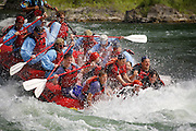 Whitewater rafting on the Snake River, near Jackson, Wyoming.
