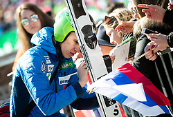 Tilen Bartol (SLO) with fans during the Trial Round of the Ski Flying Hill Individual Competition at Day 1 of FIS Ski Jumping World Cup Final 2019, on March 21, 2019 in Planica, Slovenia. Photo by Vid Ponikvar / Sportida