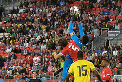 September 3, 2017 - Toronto, Ontario, Canada - Goalkeaper Andre Blake catch the ball during the Canada-Jamaica Men's International Friendly match at BMO Field in Toronto, Canada, on 2 September 2017. (Credit Image: © Anatoliy Cherkasov/NurPhoto via ZUMA Press)
