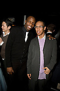 ROGER DAVIES AND MARK CALAPE, INTO THE HOODS - a hip hop dance musical -opening  at the Novello Theatre on The Aldwych. After- party at TAMARAI at 167 Drury Lane, London. 27 March 2008.   *** Local Caption *** -DO NOT ARCHIVE-© Copyright Photograph by Dafydd Jones. 248 Clapham Rd. London SW9 0PZ. Tel 0207 820 0771. www.dafjones.com.