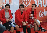 20090606: LISBON, PORTUGAL - Luis Figo Sagres Street Football - Luis Figo Sagres Street Football - Luis Figo Team vs Rui Costa Team. In picture: Luis Figo, Rui Costa and Pauleta. PHOTO: Alvaro Isidoro/CITYFILES