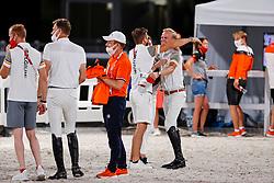 Team Belgium, Devos Pieter, Bruynseels Niels, Guery Jerome, Weinberg Peter<br /> Olympic Games Tokyo 2021<br /> © Hippo Foto - Dirk Caremans<br /> 07/08/2021