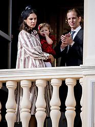 Tatiana Casiraghi mit Tochter India und Ehemann Andrea bei den Feierlichkeiten zum Nationalfeiertag in Monaco / 191116<br /> <br /> ***National Day in Monaco, November 19th, 2016***
