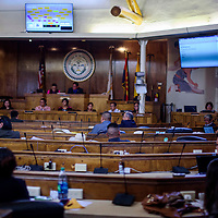 The Navajo Nation Council conducts the first day of the spring session in Window Rock Tuesday.