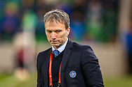 Estonia Manager Martin Reim during the UEFA European 2020 Qualifier match between Northern Ireland and Estonia at National Football Stadium, Windsor Park, Northern Ireland on 21 March 2019.