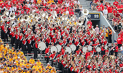 Sep 14, 2019; Morgantown, WV, USA; The North Carolina State Wolfpack band performs during the second quarter against the West Virginia Mountaineers at Mountaineer Field at Milan Puskar Stadium. Mandatory Credit: Ben Queen-USA TODAY Sports