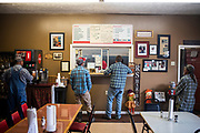 THOMPKINSVILLE, Ky. - Customers order from the counter at R&S Barbecue.