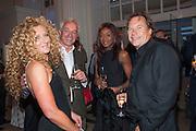 KELLY HOPPEN; JOHN GARDNER; PHOEBE VELA; JOHN HITCHOX Cartier Tank Anglaise launch. Kensington Palace Orangery, London.  19 April 2012.