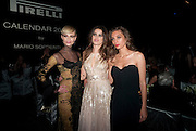 MARGARET MADE; ISABEL FONTANA; NATASHA Poll ; , The Global launch of the 2012 Pirelli Calendar by Mario Sorrenti.  Dinner at the Park Avenue Armory. Manhattan. 6 December 2011.