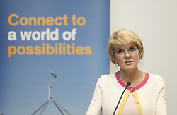 August 1, 2018 - Sunway, Selangor, Malaysia - Australia Foreign Affairs Minister Julie Bishop  while delivering  a public address at the Monash University Malaysia Campus in Sunway.Bishop is on a three-day working trip to Malaysia from 31 July to 02 August. (Credit Image: © Kepy via ZUMA Wire)