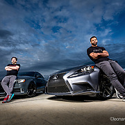 Etienne Otero and his 2017 Audi A3 2.0t Quattro APR StageII+ and Vitor Oliveira's 2016  Lexus IS 350 F-sport (photo by Leonardo Carrizo)(photo by Leonardo Carrizo)