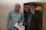 Paddy Summerfield and David Kirke, Stella Vine paintings. Modern art Oxford. 17 July 2007.  -DO NOT ARCHIVE-© Copyright Photograph by Dafydd Jones. 248 Clapham Rd. London SW9 0PZ. Tel 0207 820 0771. www.dafjones.com.