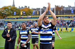 Dave Attwood of Bath Rugby acknowledges the crowd after the match - Mandatory byline: Patrick Khachfe/JMP - 07966 386802 - 17/10/2015 - RUGBY UNION - The Recreation Ground - Bath, England - Bath Rugby v Exeter Chiefs - Aviva Premiership.