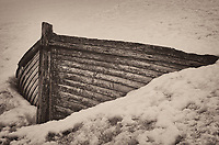 Old wooden boat stuck in the snow on Half Moon Island in the South Shetland Islands (north of the Antarctic Peninsula). Image taken with a Leica T camera and 18-56 mm lens (ISO 100, 56 mm, f/16, 1/100 sec). Raw image processed with Capture One Pro 8, Focus Magic, and Photoshop CC 2014.