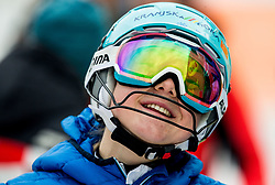 """Meta Hrovat (SLO) after the 1st Run of FIS Alpine Ski World Cup 2017/18 Ladies' Slalom race named """"Snow Queen Trophy 2018"""", on January 3, 2018 in Course Crveni Spust at Sljeme hill, Zagreb, Croatia. Photo by Vid Ponikvar / Sportida"""