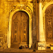 The Exterior of Sao Francisco de Paula, Rio de Janeiro,  Brazil. 6th September 2010. Photo Tim Clayton.