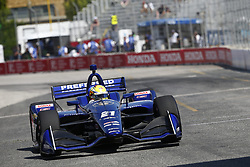 July 13, 2018 - Toronto, Ontario, Canada - SPENCER PIGOT (21) of the United State takes to the track to practice for the Honda Indy Toronto at Streets of Exhibition Place in Toronto, Ontario. (Credit Image: © Justin R. Noe Asp Inc/ASP via ZUMA Wire)
