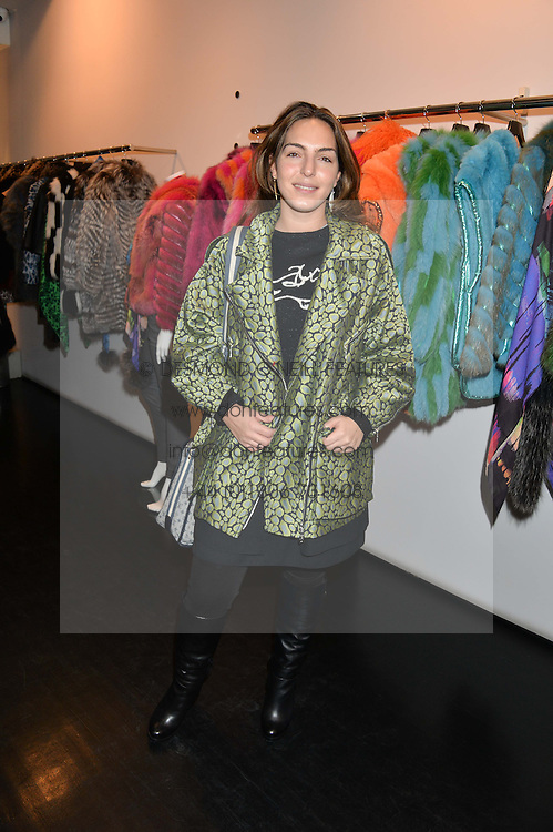 ANDREA GELARDIN at a preview of the Hockley Autumn -Winter 2013/2014 Collection at Hockley, 20 Conduit Street, London on 26th November 2013.