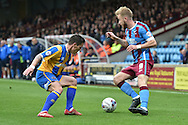 Paddy Madden of Scunthorpe Unitedduring the Sky Bet League 1 match between Scunthorpe United and Shrewsbury Town at Glanford Park, Scunthorpe, England on 17 October 2015. Photo by Ian Lyall.