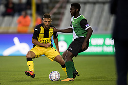 September 2, 2017 - Brugge, BELGIUM - Lierse's Yvan Yagan and Cercle's Jordy Gaspar fight for the ball during a soccer game between Cercle Brugge KSV and Lierse SK in Brugge, Saturday 02 September 2017, on day four of the division 1B Proximus League competition of the Belgian championship. BELGA PHOTO JASPER JACOBS (Credit Image: © Jasper Jacobs/Belga via ZUMA Press)