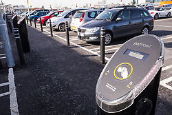 Electric car charging point, new Sainsbury's superstore, Thanet, Kent UK