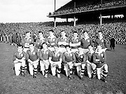 Neg No:.719/9756-9761...17031955IPFCF...17.03.1955..Interprovincial Railway Cup Football - Final..Leinster.1-14.Connacht.1-10...Leinster. ..P. McGearty, M. O'Brien, P. O'Brien, K. McConnell (Meath), A. Murphy (Carlow), J. Fitzparick (Wicklow), S. White (Louth), J. Rogers (Wicklow), P. Casey (Offaly), J. McDonnell (Louth), O. Freaney, C. O'Leary (Dublin), M. McDonnell, T. Moriarty (Meath), K. Heffernan (Dublin)
