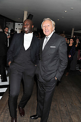 Left to right, OZWALD BOATENG and HAROLD TILLMAN at the InStyle Best of British Talent Event in association with Lancôme and Avenue 32 held at The Rooftop Restaurant, Shoreditch House, Ebor Street, London E1 on 30th January 2013.